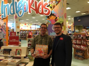 Mr. Monahan and Mr. Jordan in the Kids Section at Chapters in Woodbridge